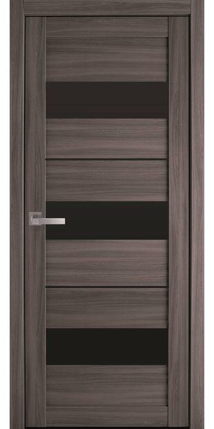 Межкомнатные двери Лилу с черным стеклом lilu-blk-dub-atlant