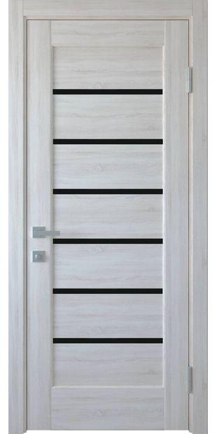 Межкомнатные двери Линнея с черным стеклом linneya-27