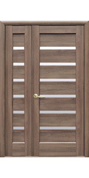 Двойные межкомнатные двери Линнея со стеклом сатин linneya-36