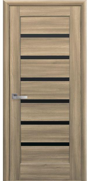 Межкомнатные двери Линнея с черным стеклом linneya-38