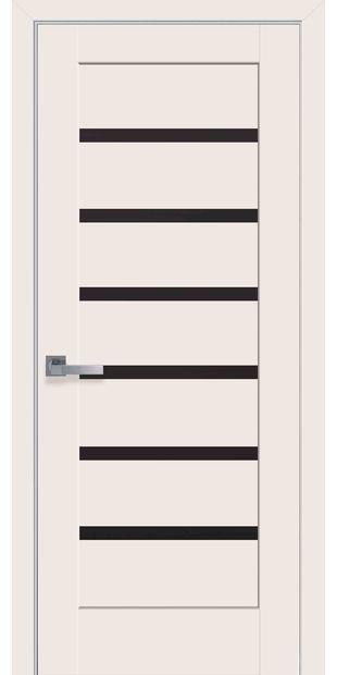 Межкомнатные двери Линнея с черным стеклом linneya-45