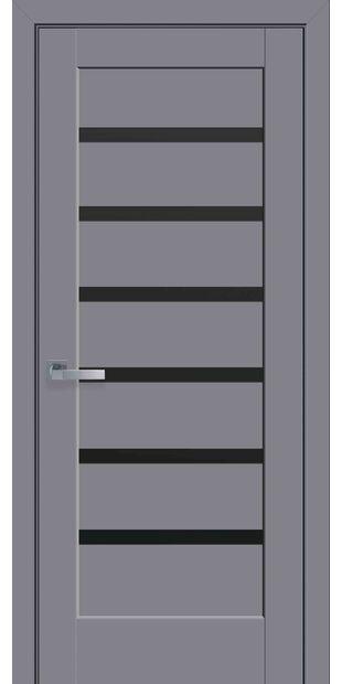 Межкомнатные двери Линнея с черным стеклом linneya-47