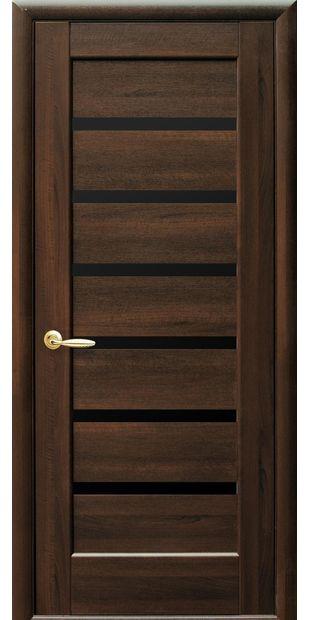 Межкомнатные двери Линнея с черным стеклом linneya-8