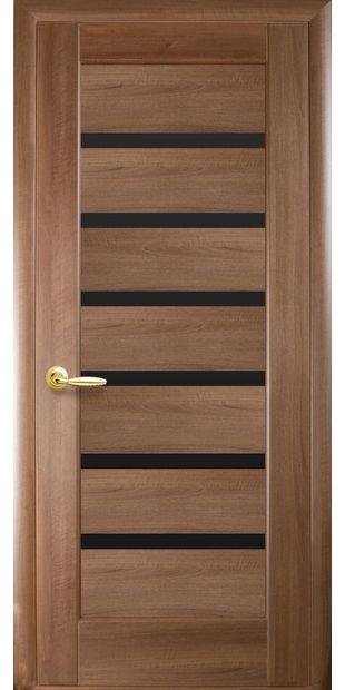 Межкомнатные двери Линнея с черным стеклом linneya-9