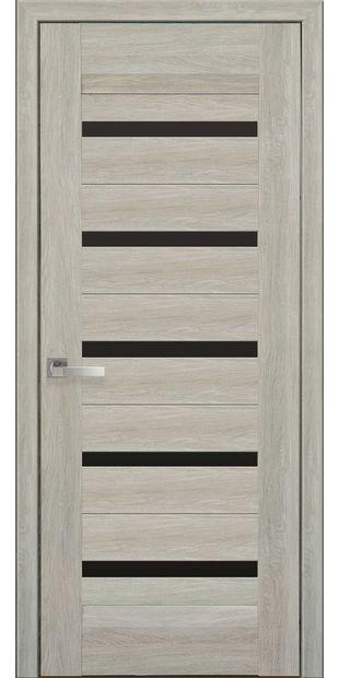 Межкомнатные двери Лира с черным стеклом lira-3