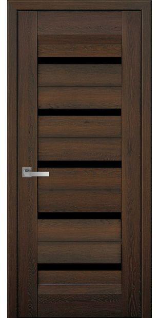 Межкомнатные двери Лира с черным стеклом lira-7