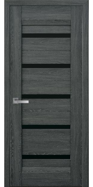 Межкомнатные двери Лира с черным стеклом lira