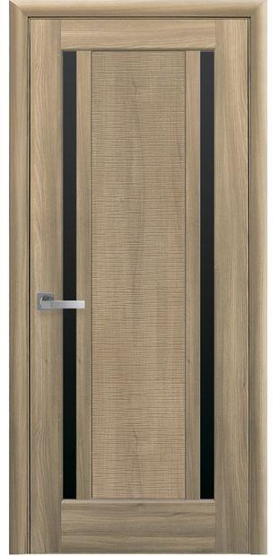 Межкомнатные двери Луиза с черным стеклом luiza-26