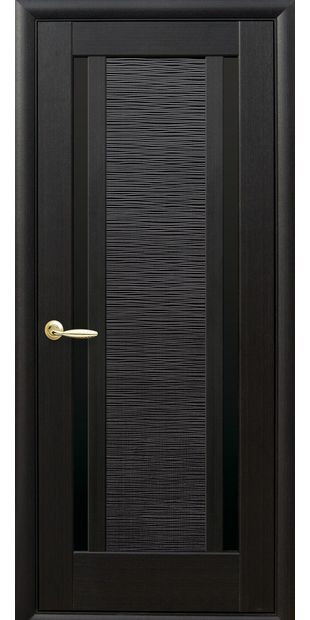 Межкомнатные двери Луиза с черным стеклом luiza-7