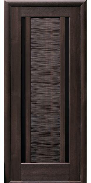 Межкомнатные двери Луиза с черным стеклом luiza-9