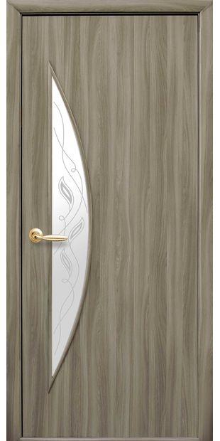 Межкомнатные двери Луна со стеклом сатин и рисунком luna-20