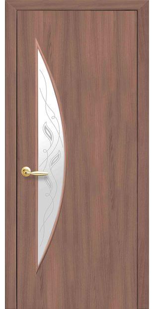 Межкомнатные двери Луна со стеклом сатин и рисунком luna-50