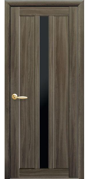 Межкомнатные двери Марти с черным стеклом marti-12