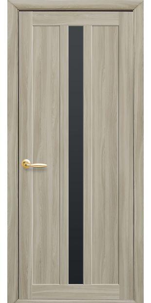 Межкомнатные двери Марти с черным стеклом marti-13
