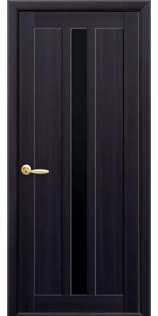 Межкомнатные двери Марти с черным стеклом marti-14