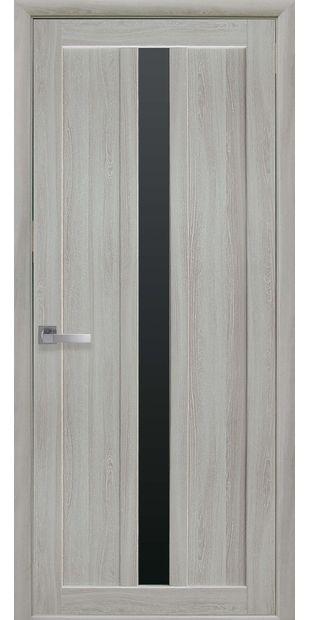 Межкомнатные двери Марти с черным стеклом marti-15