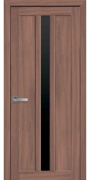 Межкомнатные двери Марти с черным стеклом marti-18