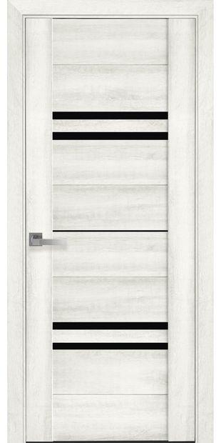 Межкомнатные двери Мерида с черным стеклом meryda10