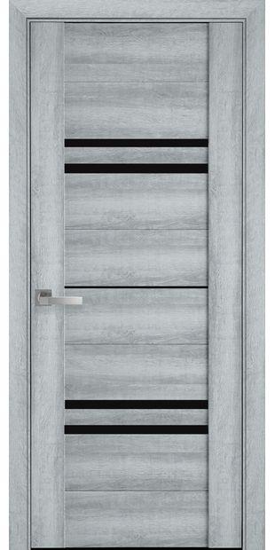 Межкомнатные двери Мерида с черным стеклом meryda4