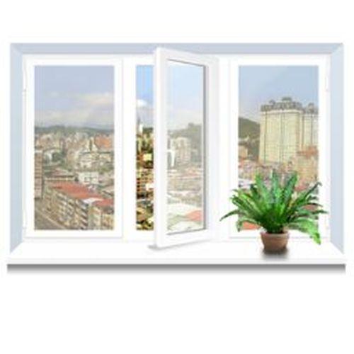Металлопластиковое окно KBE трехстворчатое 2060х1400 мм metalloplastikovoe-okno-kbe-trekhstvorchatoe-2060x1400-mm