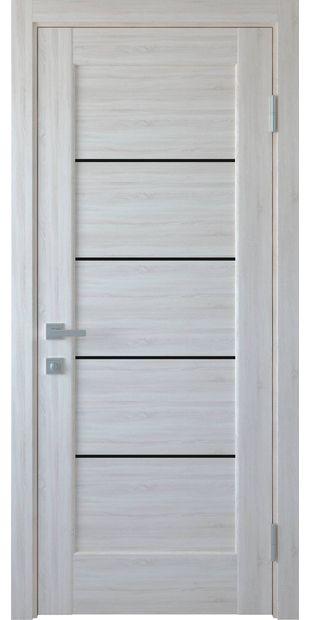 Межкомнатные двери Мира с черным стеклом mira-5