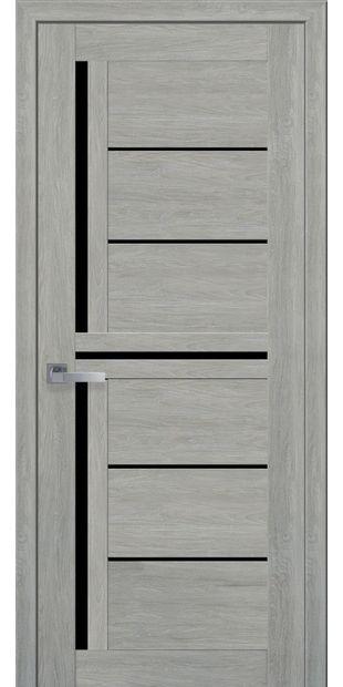 Межкомнатные двери Диана с черным стеклом moda-pvh-ultra-diana-pvh-ultra-dub-dymchatyj-s-chernym-steklom