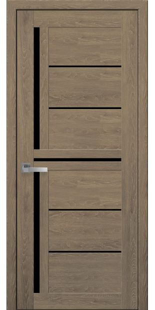 Межкомнатные двери Диана с черным стеклом moda-pvh-ultra-diana-pvh-ultra-dub-medovyj-s-chernym-steklom