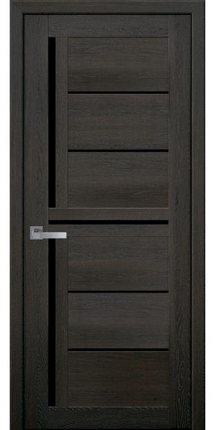 Межкомнатные двери Диана с черным стеклом moda-pvh-ultra-diana-pvh-ultra-dub-muskat-s-chernym-steklom