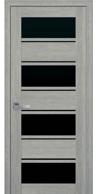 Межкомнатные двери Элиза с черным стеклом moda-pvh-ultra-jeliza-pvh-ultra-dub-dymchatyj-s-chernym-steklom