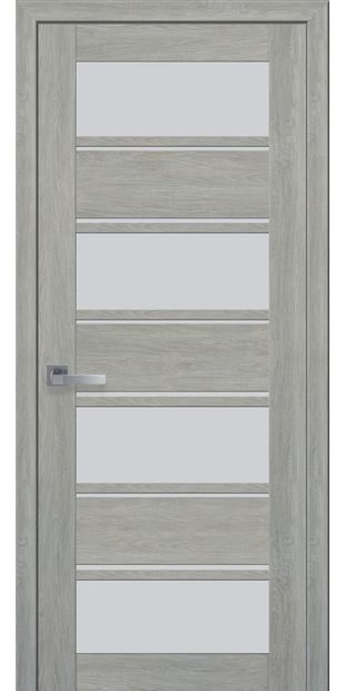 Межкомнатные двери Элиза со стеклом сатин moda-pvh-ultra-jeliza-pvh-ultra-dub-dymchatyj-so-steklom-satin