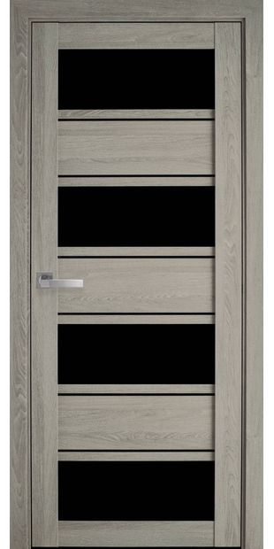 Межкомнатные двери Элиза с черным стеклом moda-pvh-ultra-jeliza-pvh-ultra-dub-molochnyj-s-chernym-steklom
