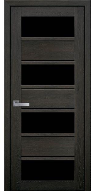 Межкомнатные двери Элиза с черным стеклом moda-pvh-ultra-jeliza-pvh-ultra-dub-muskat-s-chernym-steklom