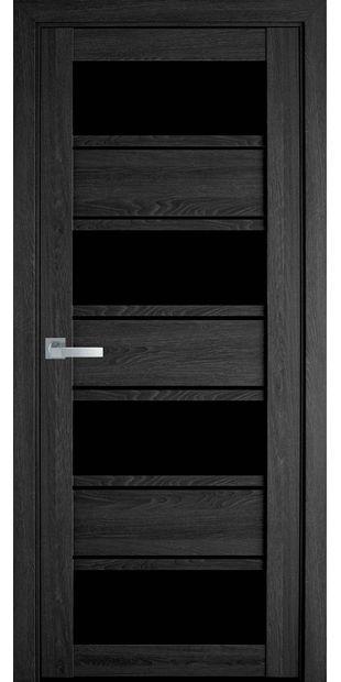 Межкомнатные двери Элиза с черным стеклом moda-pvh-ultra-jeliza-pvh-ultra-dub-seriy-s-chernym-steklom