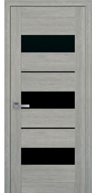 Межкомнатные двери Лилу moda-pvh-ultra-lilu-pvh-ultra-dub-dymchatyj-s-chernym-steklom