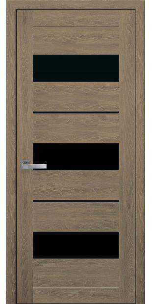 Межкомнатные двери Лилу moda-pvh-ultra-lilu-pvh-ultra-dub-medovyj-s-chernym-steklom