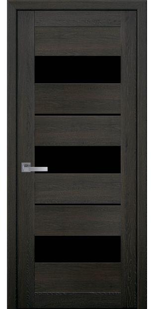 Межкомнатные двери Лилу с черным стеклом moda-pvh-ultra-lilu-pvh-ultra-dub-muskat-s-chernym-steklom