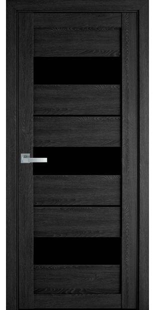 Межкомнатные двери Лилу moda-pvh-ultra-lilu-pvh-ultra-dub-seriy-s-chernym-steklom