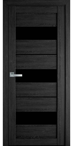 Межкомнатные двери Лилу с черным стеклом moda-pvh-ultra-lilu-pvh-ultra-dub-seriy-s-chernym-steklom