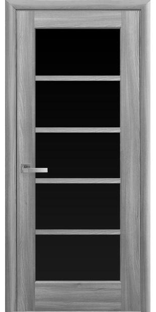Межкомнатные двери Муза с черным стеклом muza-15