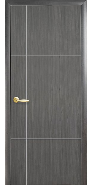 Межкомнатные двери Ника silver глухое с гравировкой Silver nika-silver-1