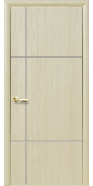 Межкомнатные двери Ника silver глухое с гравировкой Silver nika-silver-3