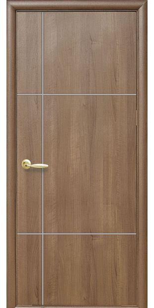 Межкомнатные двери Ника silver глухое с гравировкой Silver nika-silver-5