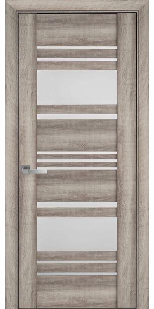 Межкомнатные двери Ницца со стеклом сатин nytstsa