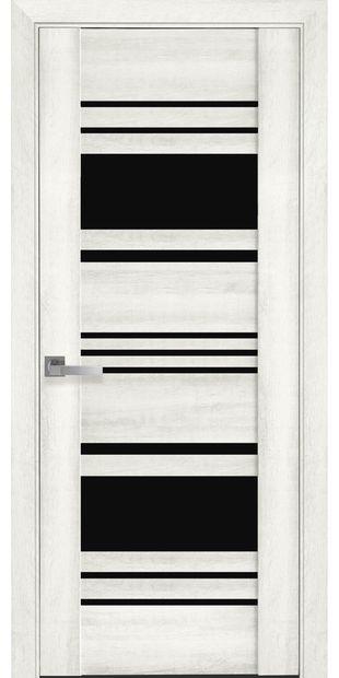 Межкомнатные двери Ницца с черным стеклом nytstsa10