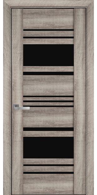 Межкомнатные двери Ницца с черным стеклом nytstsa2