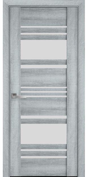 Межкомнатные двери Ницца со стеклом сатин nytstsa3