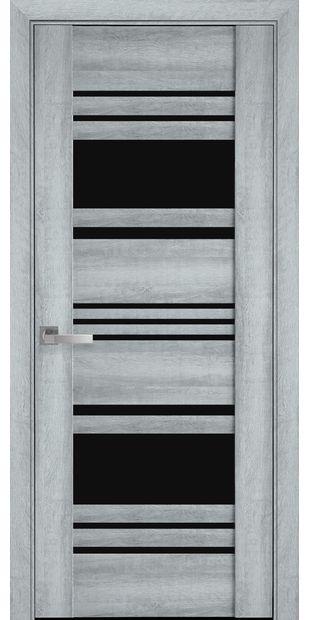 Межкомнатные двери Ницца с черным стеклом nytstsa4