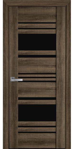 Межкомнатные двери Ницца с черным стеклом nytstsa6