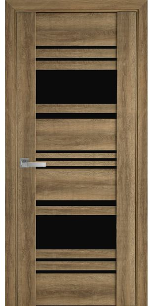 Межкомнатные двери Ницца с черным стеклом nytstsa8