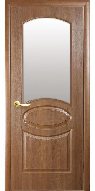 Межкомнатные двери Овал со стеклом сатин oval-18
